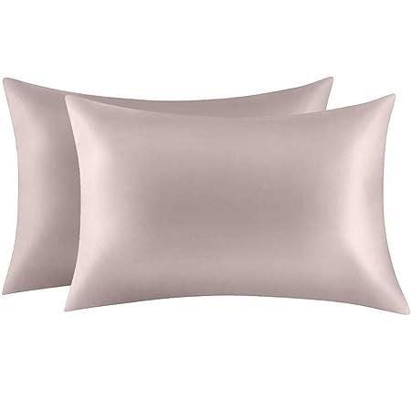 Polyeseter Fake Silk Pillowcase for Hair and Skin 2pcs//set