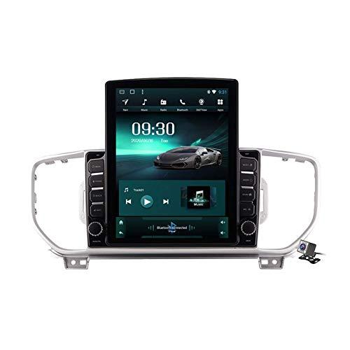 QBWZ Autoradio Android 9.0 Radio per Kia KX5 / Sportage 2016-2018 Navigazione GPS Schermo Verticale da 9,7 Pollici Head Unit MP5 Multimedia Player Video con 4G WiFi DSP Mirror Link