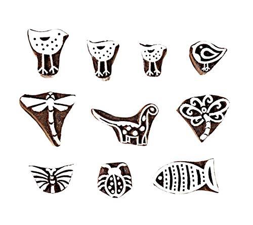 Hashcart Decor Bird Designs Baren for Block Printing Stamps   Wooden Stamping for Scrapbooking