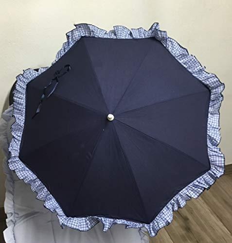 Sombrilla para silla de paseo + flexo universal. Parasol Marino rayas