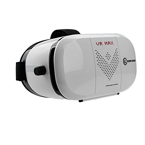 """Kobert-Goods - VR Max Virtual Reality Brille 3D Einstellbar Game Spiel Brille Karton Video Movie virtuelle Realität für 3.5""""-6"""" Smartphone Android IOS iPhone Samsung"""