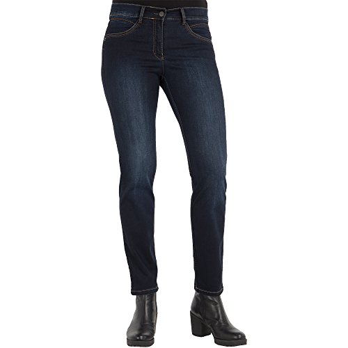 Zerres Sensational-Fit-Jeans Ariane dunkelblau, Gr. 34 - (3025 TWIGY 551 FB 69 GR. 34)