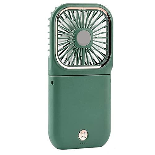 vvd USB Recargable Mini Ventilador Ventilador De Mano 3000mah con Cuello Ventilador Soporte para Teléfono Banco De La Energía Verde USB Ventilador Silencioso De Gran Alcance