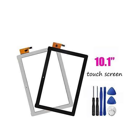 Logo Pantalla Ajuste for ZenPad 10 ZenPad Z300 Z300M P00C Z300CNL P01T de la Pantalla táctil Panel Sensor de Las Pastillas Amarillo Cinta del Cable de Piezas (Color : Z300M Black)