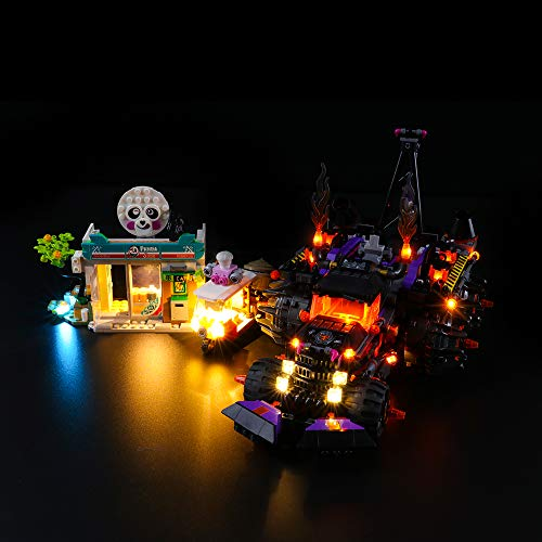LIGHTAILING Light Set For (Monkie Kid Red Son's Inferno Truck Building Blocks Model - Led Light kit Compatible With Lego 80011(NOT Included The Model)