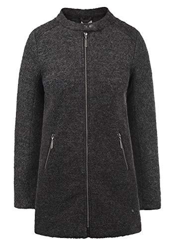 Blend SHE Wilma Damen Winter Jacke Wollmantel Winterjacke gefüttert mit Stehkragen, Größe:XXL, Farbe:Dark Grey Melange (20044)