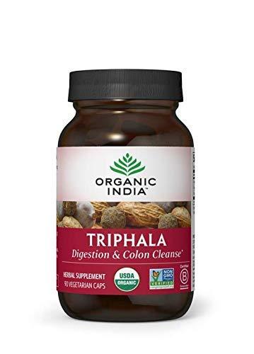 ORGANIC INDIA Triphala Supplement 90 Count Veg Capsules