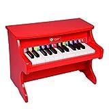 QuRRong Teclado de Piano para Niños Kids Electronic Keyboard Children Grand Piano Instrumento Musical Juguete Educativo Juguete (Rojo) para Regalo de Cumpleaños (Color : Red, Size : 30x25x41cm)