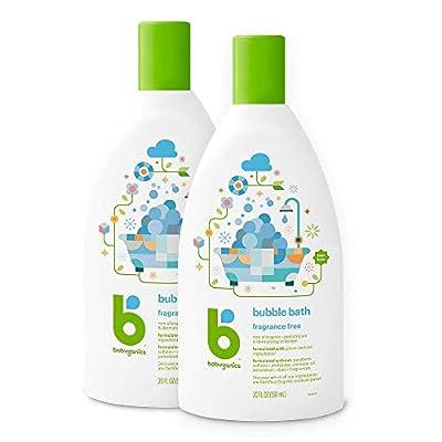 Babyganics Bubble Bath, Fragrance Free, 20oz, 2 Pack, Packaging May Vary