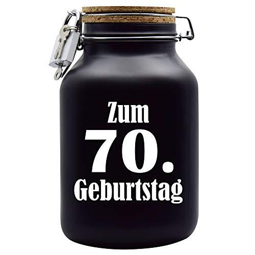 Salvadanaio per il 70° compleanno, idea regalo, colore: nero, XXL