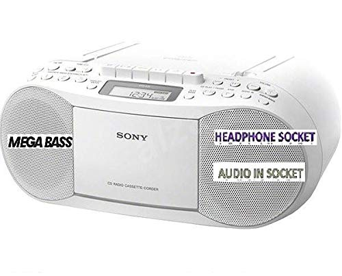 Sony CFDS70 Classic CD and Tape (Recorder) Boombox with Radio- With...