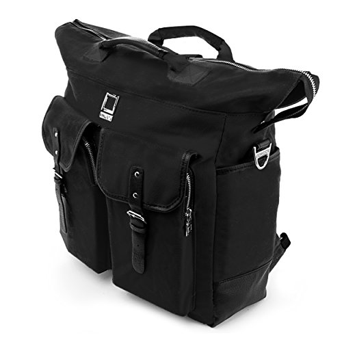 LenccaUniversal Hybrid 3 in 1Design Carrying Tote Messenger Crossbody Backpack Shoulder Bag for Acer Iconia W700 6607, W700P 6821 11.6, A3 A10 L879, A3 A10 L662, Black