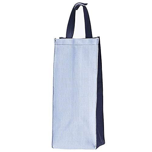 Kuai レジ袋ストッカー ポリ袋ストッカー ツートーン ごみ袋収納 キッチン収納 壁掛け 仕分け 買い物バッグ ブルー系