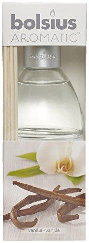 Bolsius Raumduft-Diffuser mit Rattanstäbchen, 45 ml, 1 Box, Vanilla