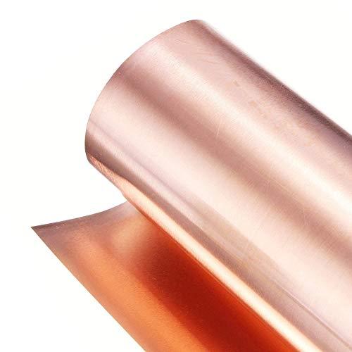 SOFIALXC Reines Kupfer 99.9% Cu Blech Folie Für Handwerk Luft Und Raumfahrt Breite 200mm Länge 1000mm- Thickness: 0.1 mm