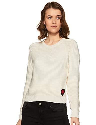 Pepe Jeans' Women's Wool Pullover (PILT200304_Ecru_M)