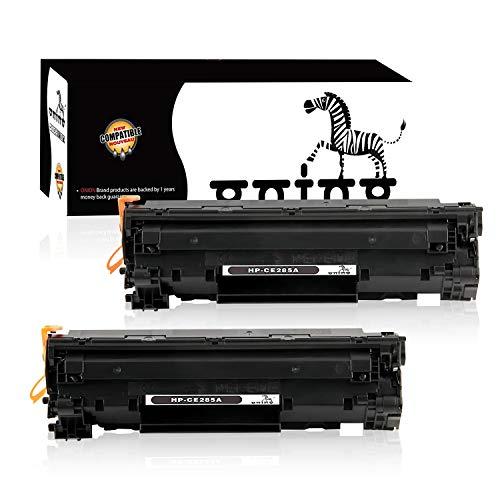 ONINO 85A Cartucho de Tóner CE285A Compatible con Laserjet P1100 P1102 P1102W Laserjet Pro M1132 M1210 M1212NF M1214NFH M1217NFW M1218NF M1219NF Negro (2pcs)