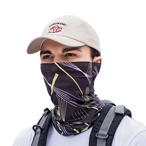 DPPAN Bandana Multifonctions Couvre-Chef sans Soudure, Ultra-Douce Respirant Protection Coupe-Vent Multifonction Microfibre Anti-poussière pour Chasse en Plein Air Escalade Cyclisme Moto,Gray