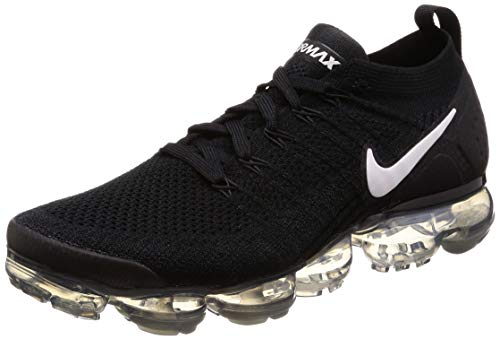 Nike Herren Air Vapormax Flyknit 2 Sneakers, Mehrfarbig (Black/White/Dark Grey/Metallic Silver 001), 43 EU