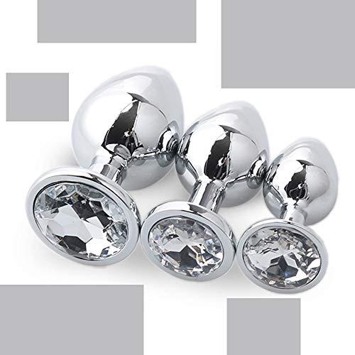 Spreader 3pcs P, Joya De Metal De Acero Inoxidable L-ug Plateado para Pareja Principiante (Blanco)