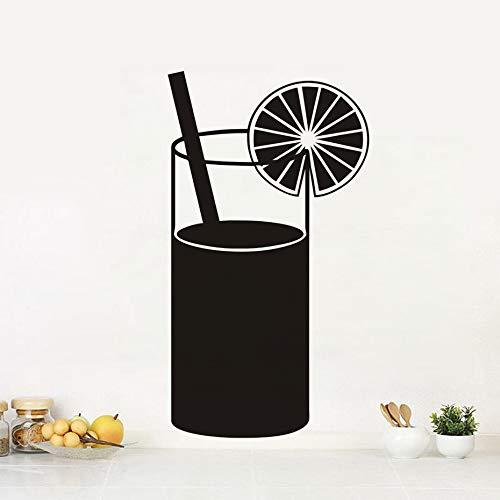 TYLPK Kreative diy schwarz gedruckt saft trinken küche wandaufkleber küche abziehbilder wohnkultur restaurant abnehmbare 24x42 cm