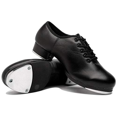 scarpe tip tap Scarpe da Tip Tap in Pelle Bloomma Scarpa da Ballo Classica per Donna e Uomo