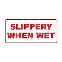 滑りやすい濡れが メタルポスタレトロなポスタ安全標識壁パネル ティンサイン注意看板壁掛けプレート警告サイン絵図ショップ食料品ショッピングモールパーキングバークラブカフェレストラントイレ公共の場ギフト