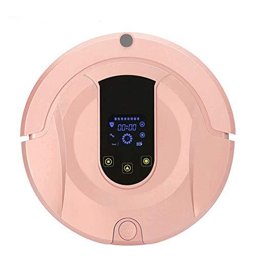 Robótico Wifi Robot Aspiradora, húmedos y secos automático de carga inalámbrica de Planificación de la ruta Robotic Vacuum Cleaner, for alfombras limpieza for la casa ( Color : Rose Gold )