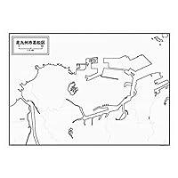 北九州市若松区の白地図 A1サイズ 2枚セット
