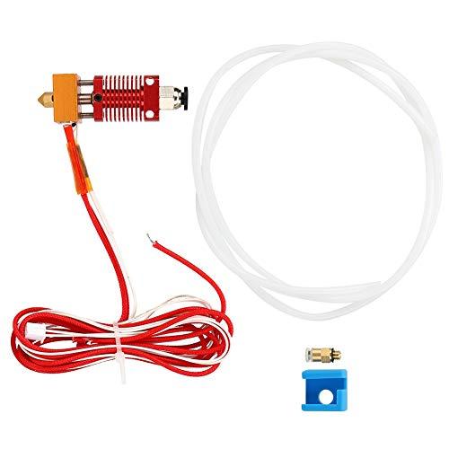 Weikeya Fine 3D Printer Extruder Kit, Capricorn Bowden Shape Design Heating Tube Power Pressure Resistance Alloy Made
