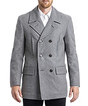 Chaps Men s Regular All-American Authentic Style Peacoat Light Grey 42R