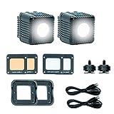 LUME CUBE 2.0 - デイライトバランス LED ライト 写真 ビデオ コンテンツ 作成用 ウォーミング ジェル ディフューザー デジタル カメラ マウント付 Sony Nikon Panasonic Fuji Canon Goproドローン用 新 2.0 シングルパック (アクセサリー付)