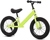 Bicicleta De Equilibrio Para Niños, Marco Ligero De Acero Alto-carbono, Ruedas Inflables De 12 Pulgadas, Bicicleta De Carro De Balance De Niños Pequeños, Asiento Y Manillar Ajustables En (Color:verde)