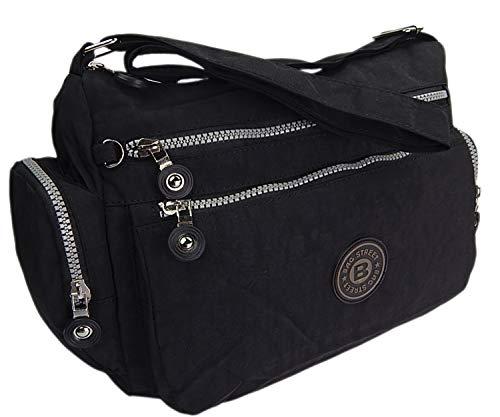 ekavale® Moderne damen Schultertasche für Shopper Freizeit Mittelgroß lässige Tasche für Frauen (Schwarz)