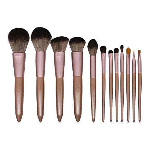 WINJIN Lot de 12 pinceaux de maquillage Kit Cosmétique Pinceaux synthétiques de qualité supérieure pour fond de teint, kabuki, blush, correcteur, fard à paupières