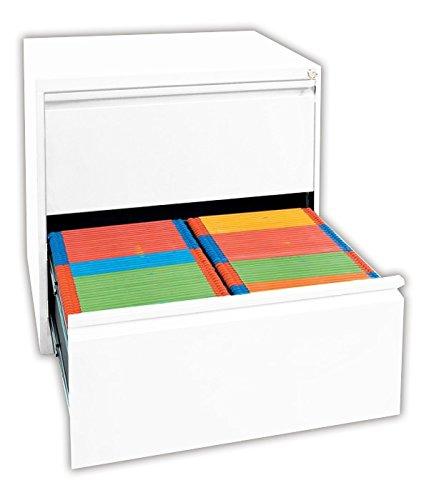 Weißer Profi Stahl Büro Hängeregistratur Schrank Bürocontainer 700 x 760 x 620mm (HxBxT) mit 2 Schüben, doppelbahnig 561227 kompl. montiert und verschweißt