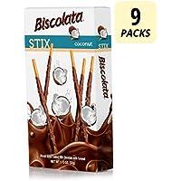9-Count Biscolata Stix Biscuit Snacks Coated with Milk Chocolate