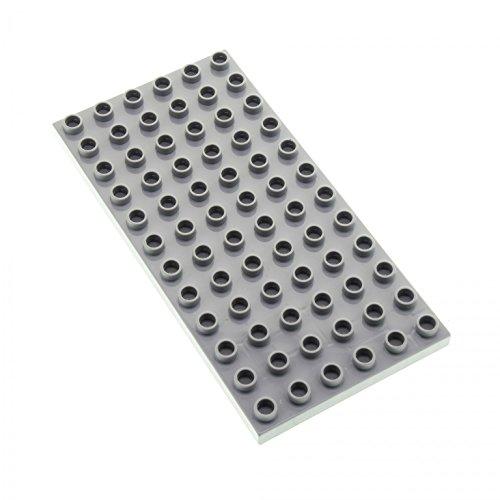 1 x Lego Duplo Bau Basic Platte neu-hell grau 12 x 6 Noppen 6x12 Grundplatte für Set 10803 10545 10577 10511 5653 4196 18921