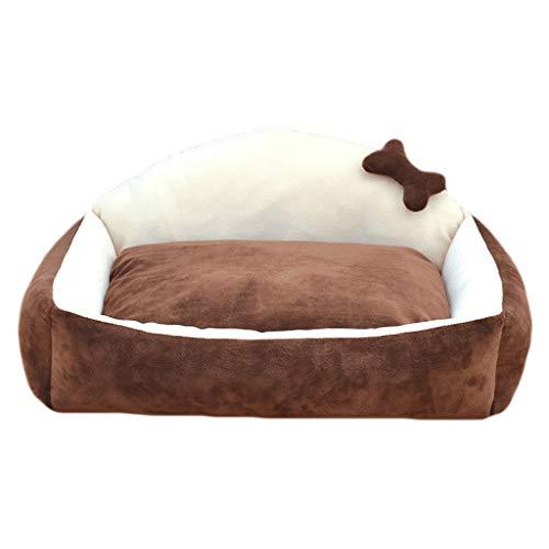 WXYPP Kennel Dog Bed Four Seasons Universal Perro Colchón Pequeño Perro Pequeño Nido Nido Cálido Invierno Extraíble y Lavable Sofá Cama Aliviar La Ansiedad (Color : Brown, Size : Medium)