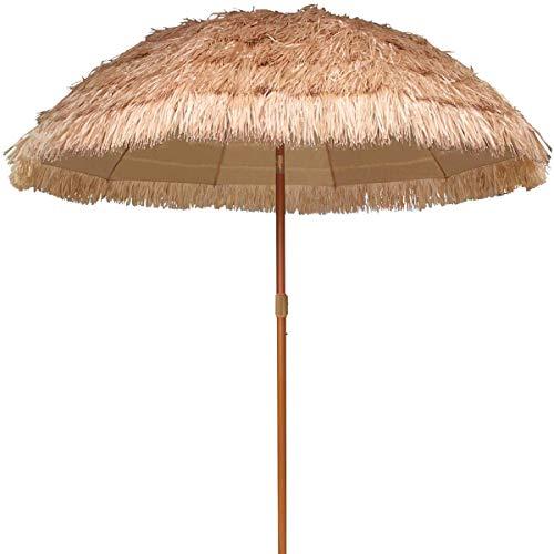 Sonnenschirm Hawaii Strandschirm Strohschirm Natur Natur - Terrassenschirm Gartenschirm Balkonschirm, mit Neigungsfunktion,Straw Umbrella