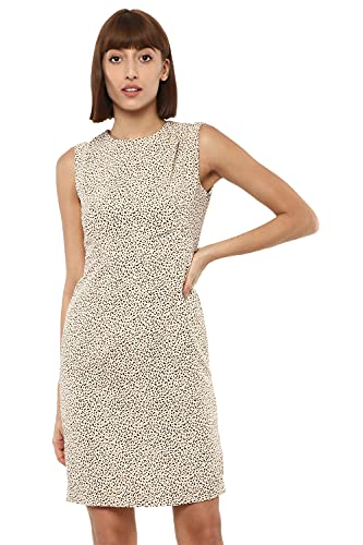 Van Heusen Women's Polyester Fit and Flare Above The Knee Dress
