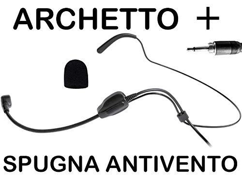 MPE AUDIO - radiomicrofono archetto wireless microfono senza fili ricambio CONSEDATORE - CARDIOIDE compatibile PROEL AKG SENNHEISER mod: HD1