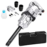 Goplus 1' Air Impact Wrench Gun Heavy Duty Pneumatic Tool Long Shank Commercial Truck Mechanics w/Case