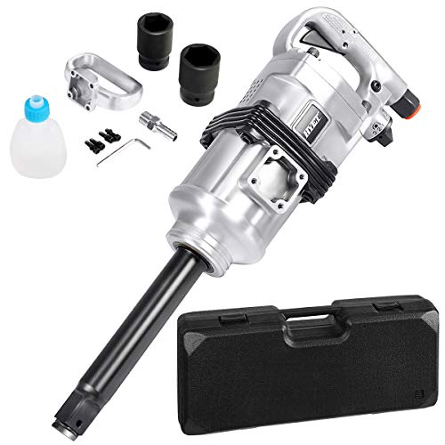 "Goplus 1"" Air Impact Wrench Gun Heavy Duty Pneumatic Tool Long Shank Commercial Truck Mechanics w/Case"