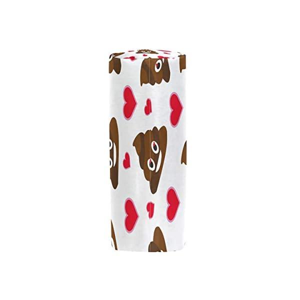 Estuche para lápices Vinlin con diseño de emoji de caca y bolsa multifuncional, con cremallera, para la escuela y la…