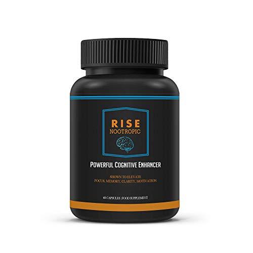 RISE Nootropic Memory Enhancement Supplements Bolster Focus & Recall – 60...