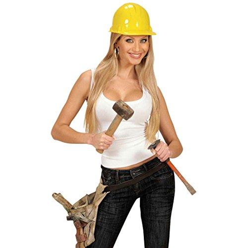 NET TOYS Bauarbeiter Helm Party Bauarbeiterhelm BAU Kopfbedeckung Karneval Fasching Partyhelm Schutzhelm Kostüm Zubehör