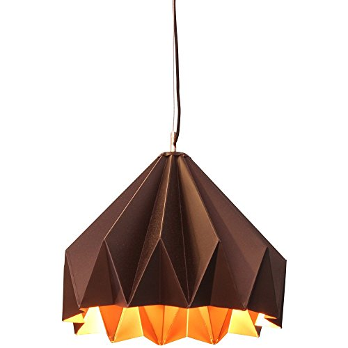 Colgante de metal Origami negra interior léton (d.30x h.20cm)