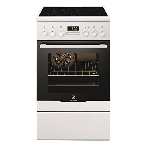 classement un comparer Cuisinière Céramique Electrolux EKC54350OW – Blanc – Plaque Céramique / Four Électrique…