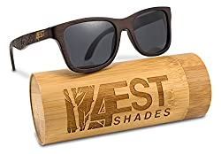 3cfcad39ea1 Water sports just became a lot more pleasant with these Bamboo Sunglasses  with polarized lenses. These wood frame glasses are made from lightweight  bamboo ...